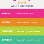 Summer SWEAT Series: Fitness Plan Week 6