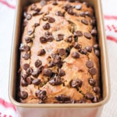 quinoa banana bread with chocolate chips