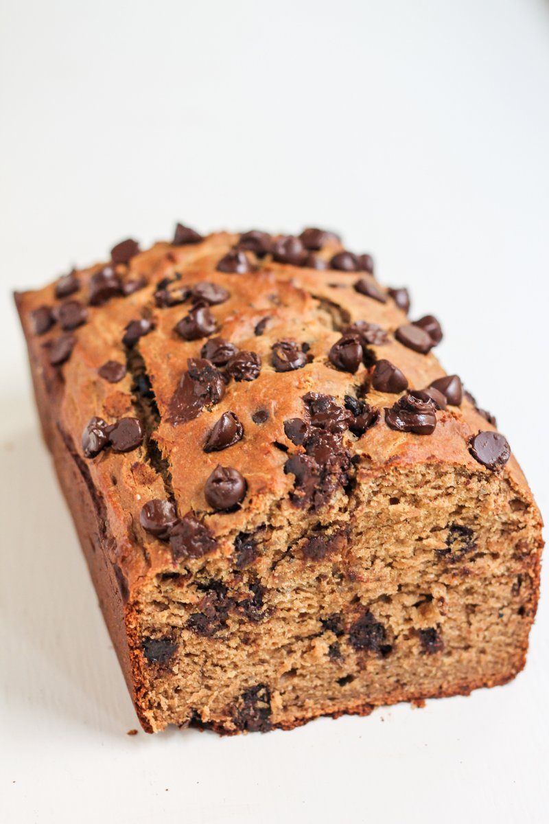 Peanut butter chocolate chip quinoa banana bread ambitious kitchen peanut butter chocolate chip quinoa banana bread is packed with peanut butter flavor no butter forumfinder Gallery