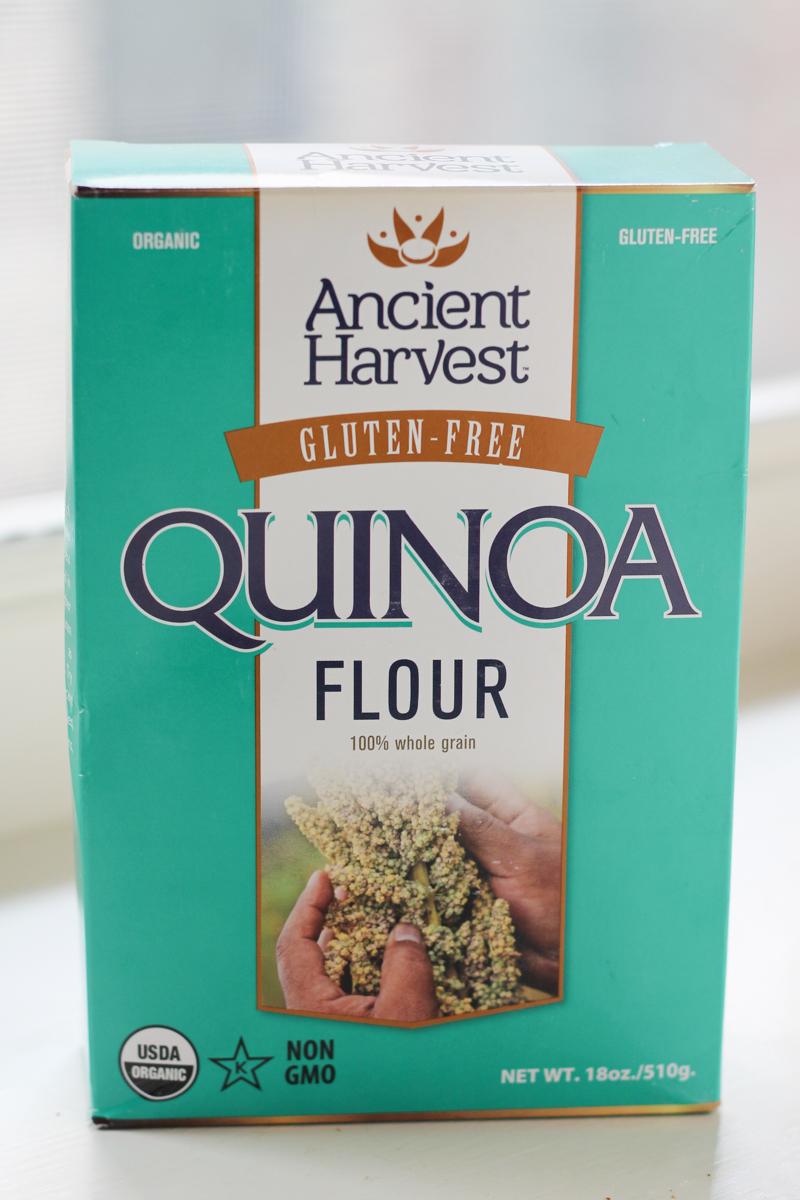box of Ancient Harvest quinoa flour