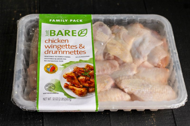 pack of chicken wings from Just BARE