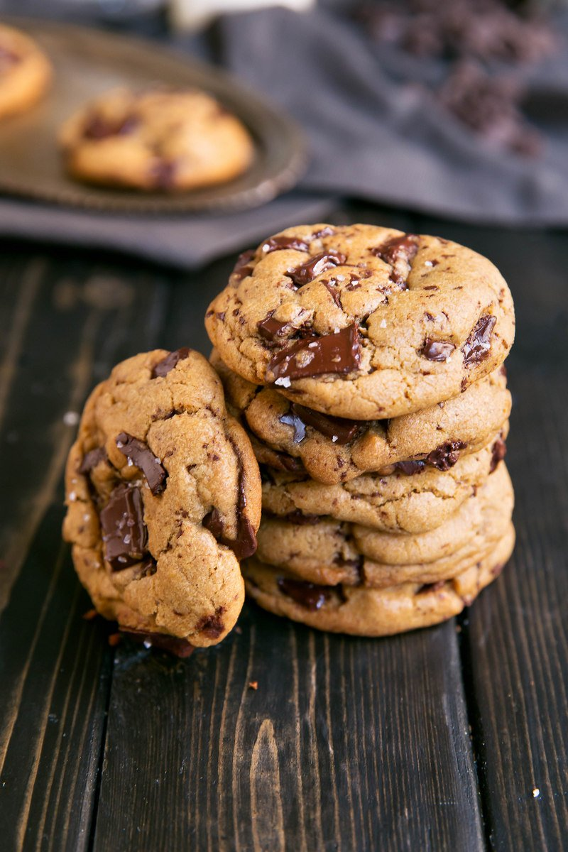 stack of chocolate chunk cookies