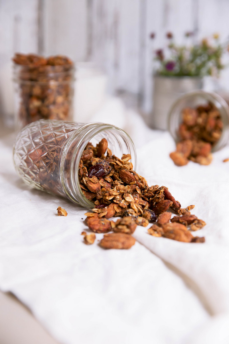 Superfood Coconut Oil Granola with Chia & Flax