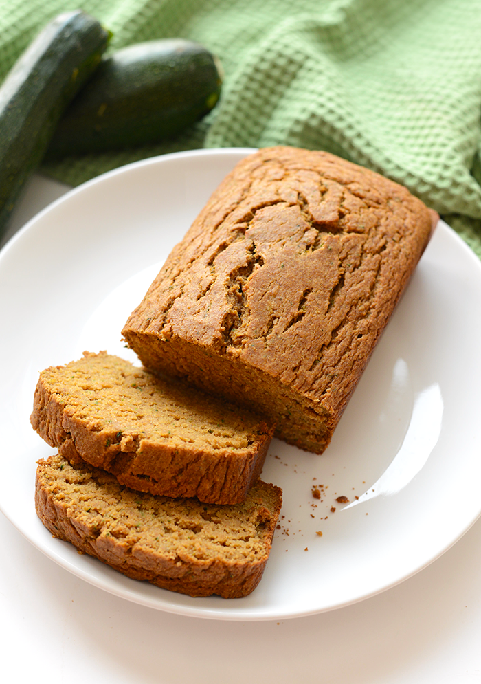loaf of Coconut Oil Zucchini Bread
