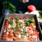 Skinny Refried Bean & Chicken Enchiladas with Homemade Enchilada Sauce
