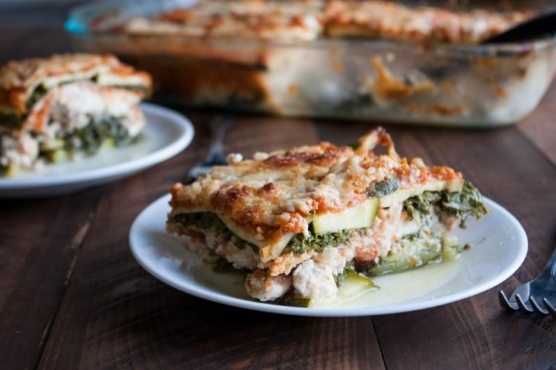 Zucchini Kale Lasagna