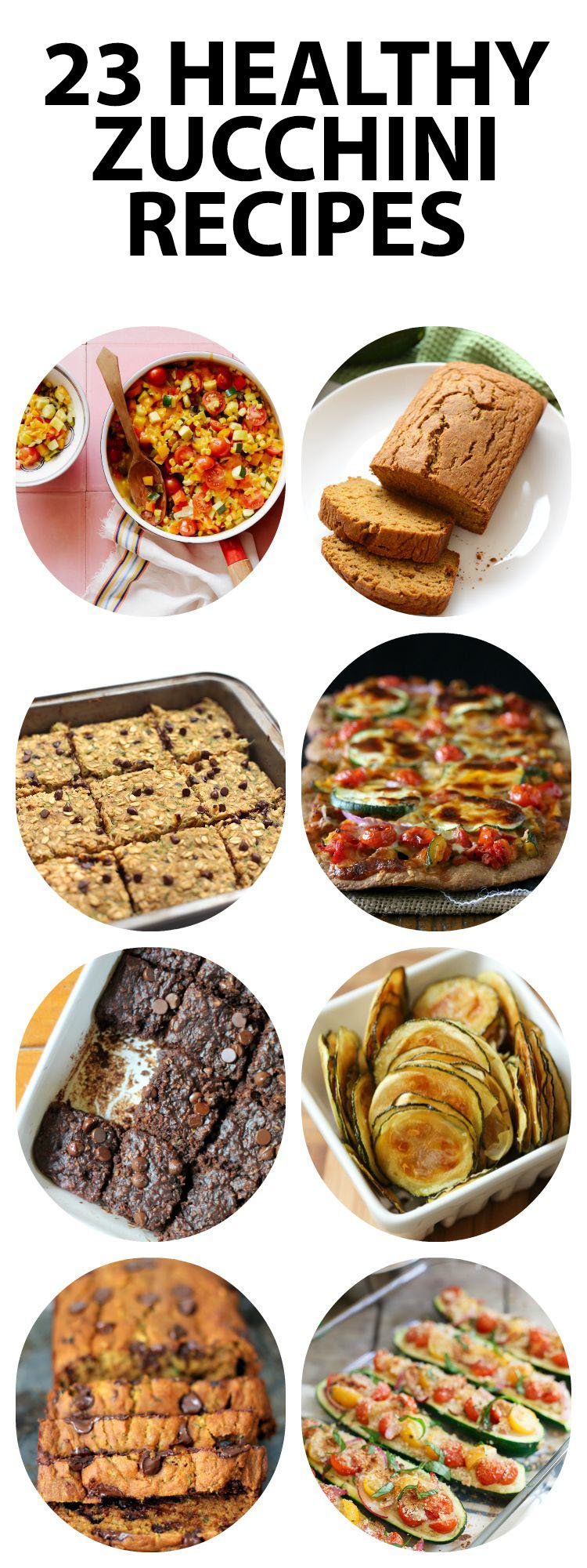 collage of healthy zucchini recipes