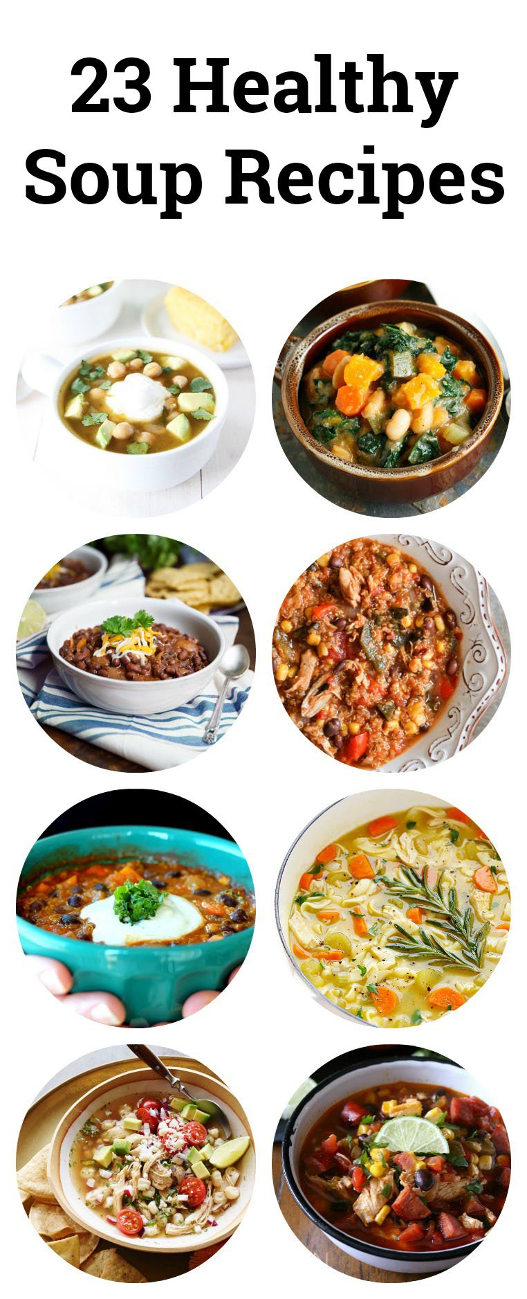collage of healthy soup recipes