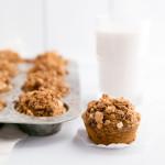 Healthy Pumpkin Banana Muffins with Macadamia Nut Crunch