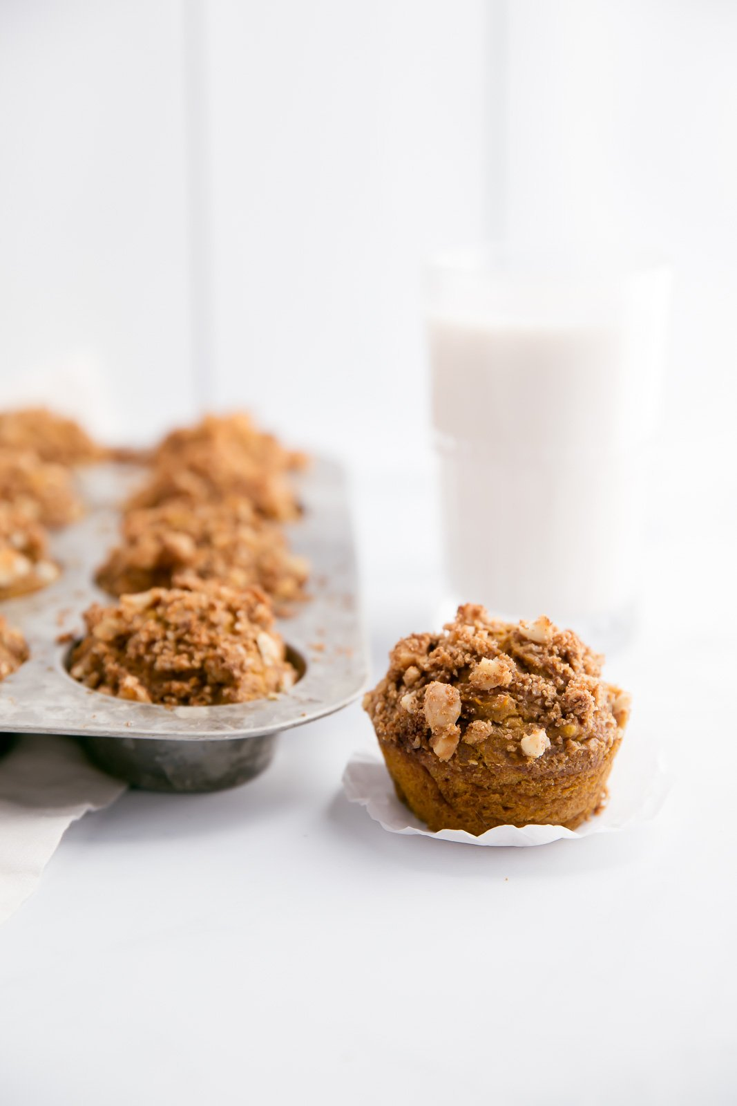 Healthy Whole Wheat Pumpkin Banana Muffins