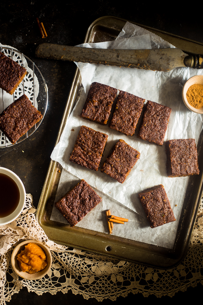 Paleo Pumpkin Spice Bars - Food Faith Fitness-2