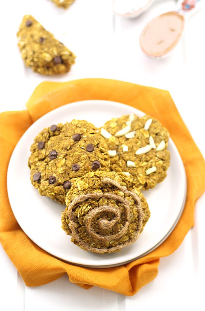Pumpkin Almond Butter Breakfast Cookies - The Healthy Maven