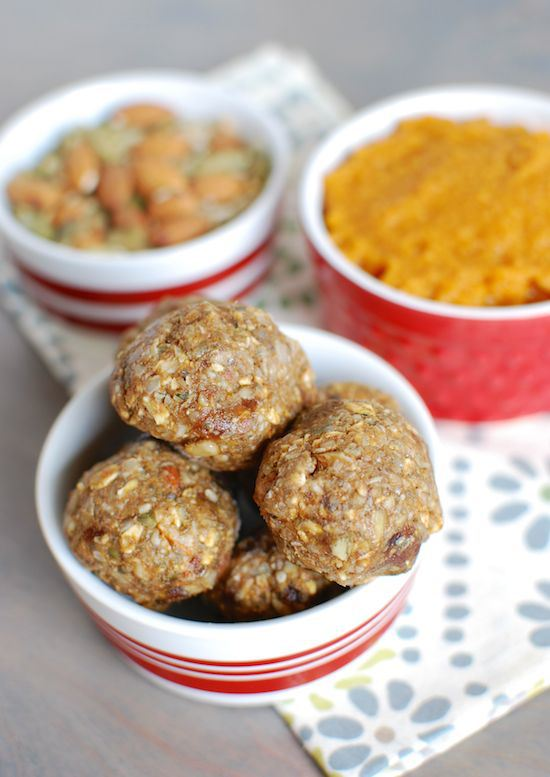 bowl of Pumpkin Energy Balls