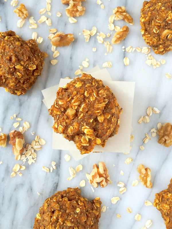 Pumpkin Oatmeal Breakfast Cookies - The Lemon Bowl