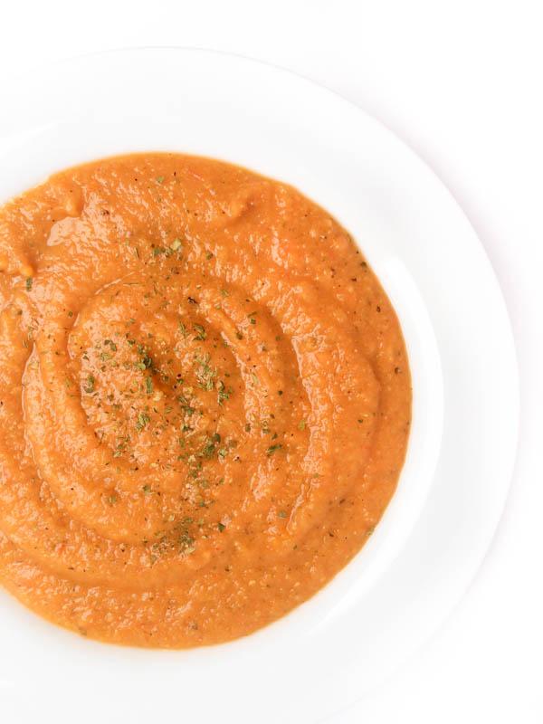 bowl of red lentil turkish soup