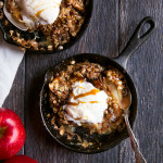 Vanilla Coconut Milk Caramel Apple Crisp For Two