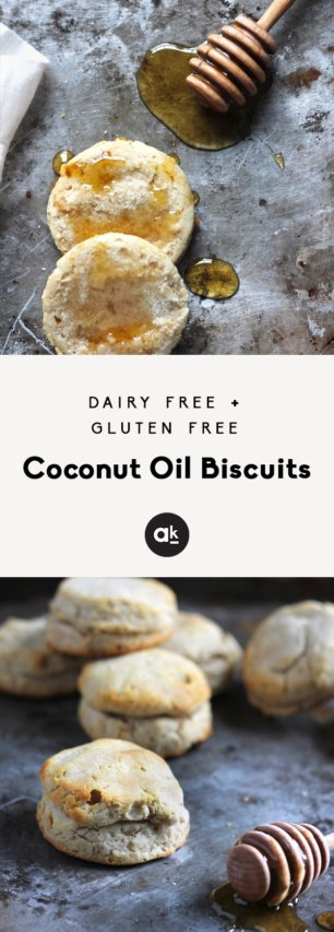 collage of coconut oil biscuits