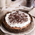Deep Dish French Silk Pie with Hazelnut Oreo Cookie Crust