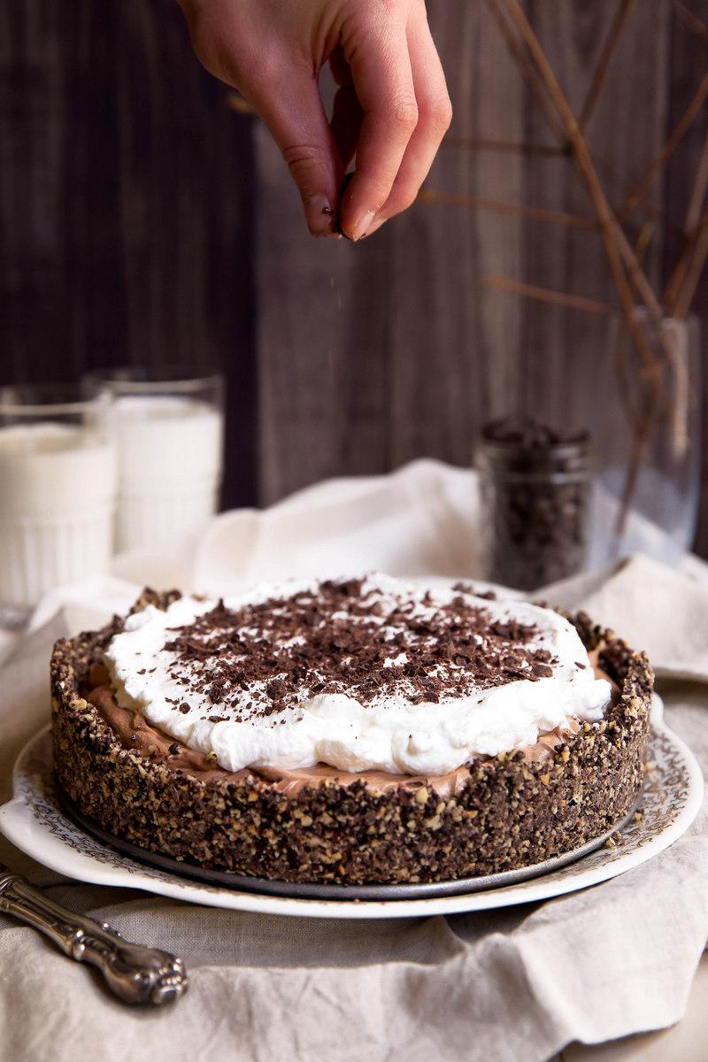 Deep Dish French Silk Pie with Hazelnut Oreo Cookie Crust ...