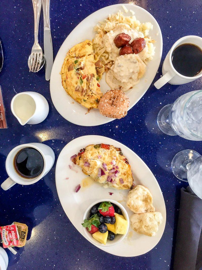 table of breakfast food
