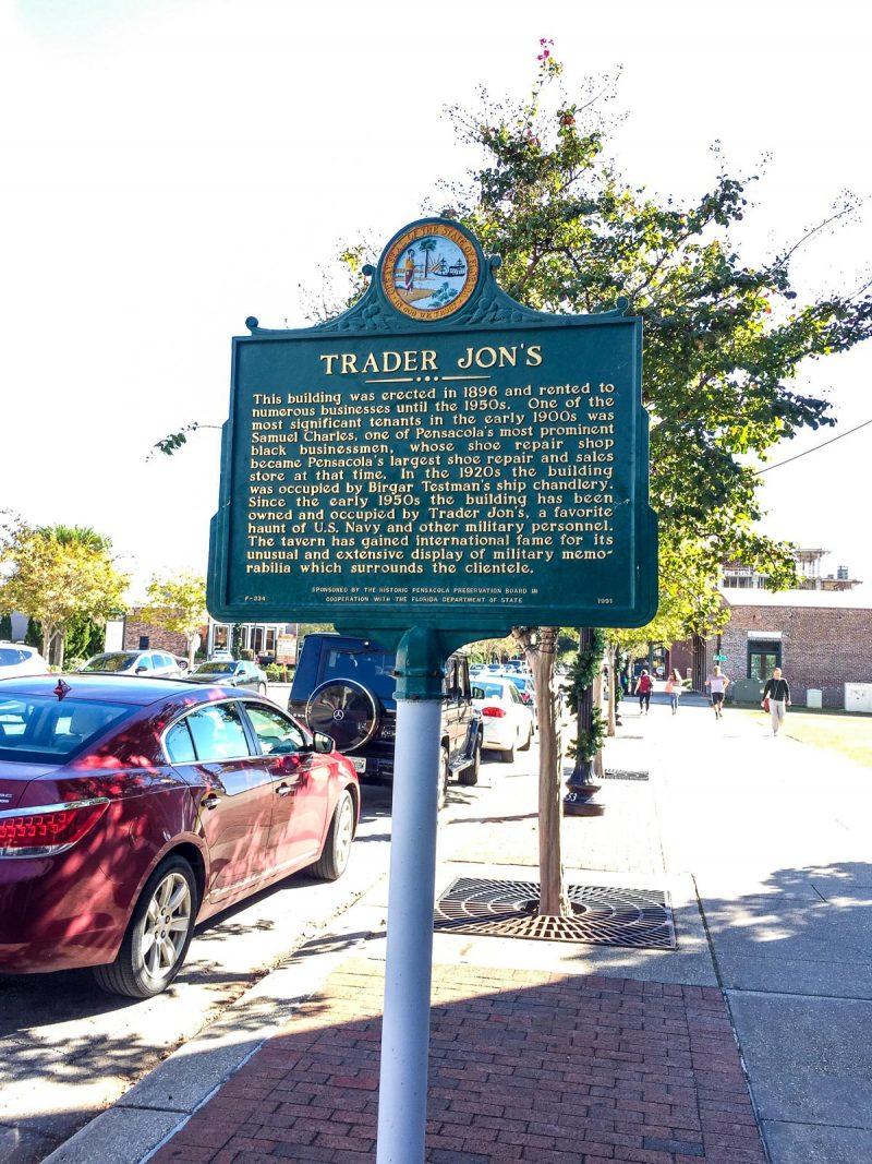 historic sign in pensacola, florida