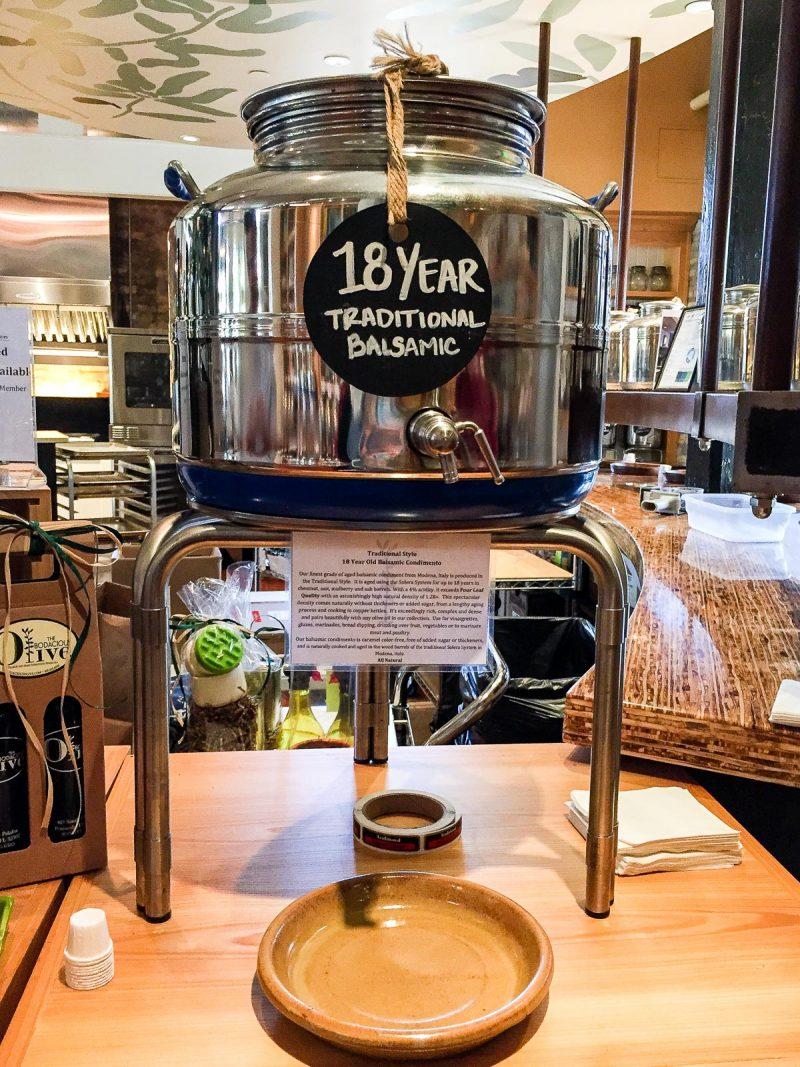 vat of balsamic vinegar
