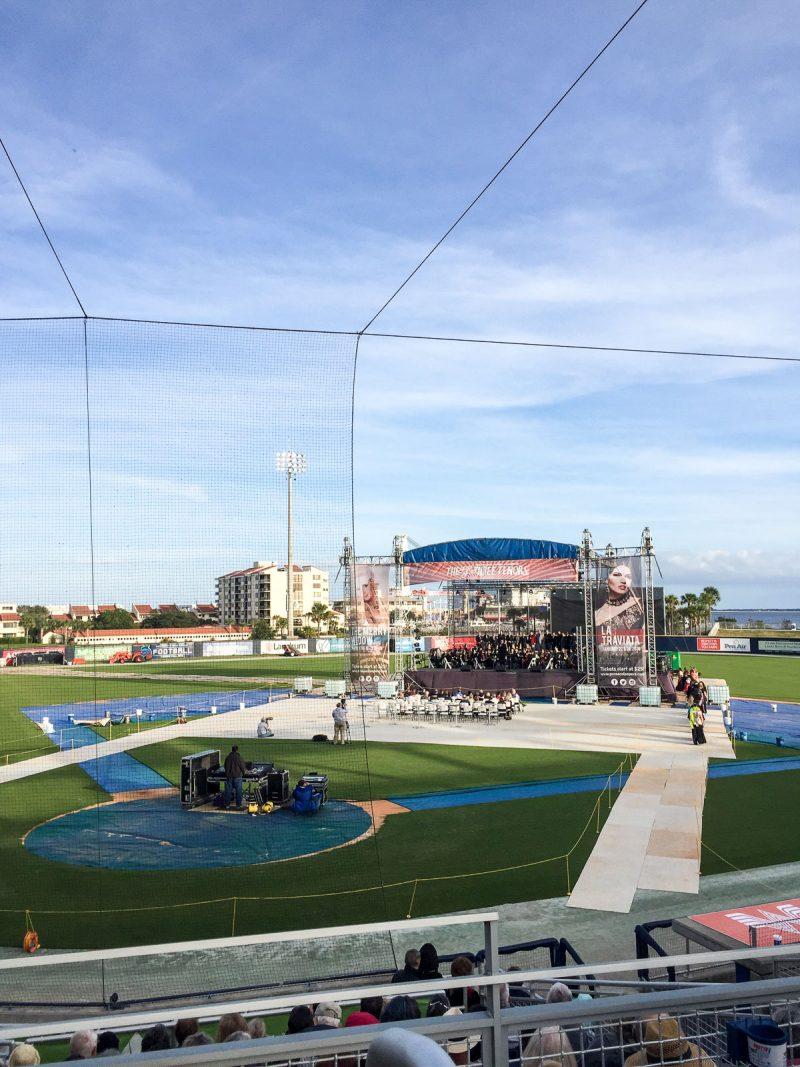 concert at baseball stadium