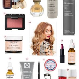 collage of beauty and skin care gifts