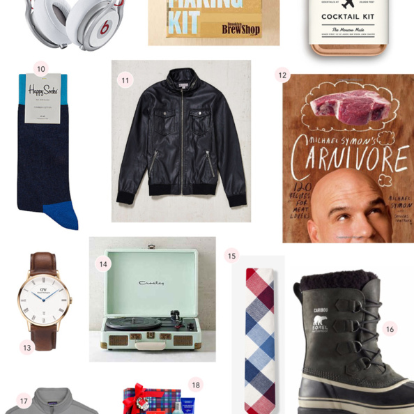 collage of gifts for the man in your life