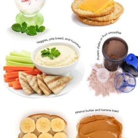 collage of 12 Healthy Post Workout Snacks