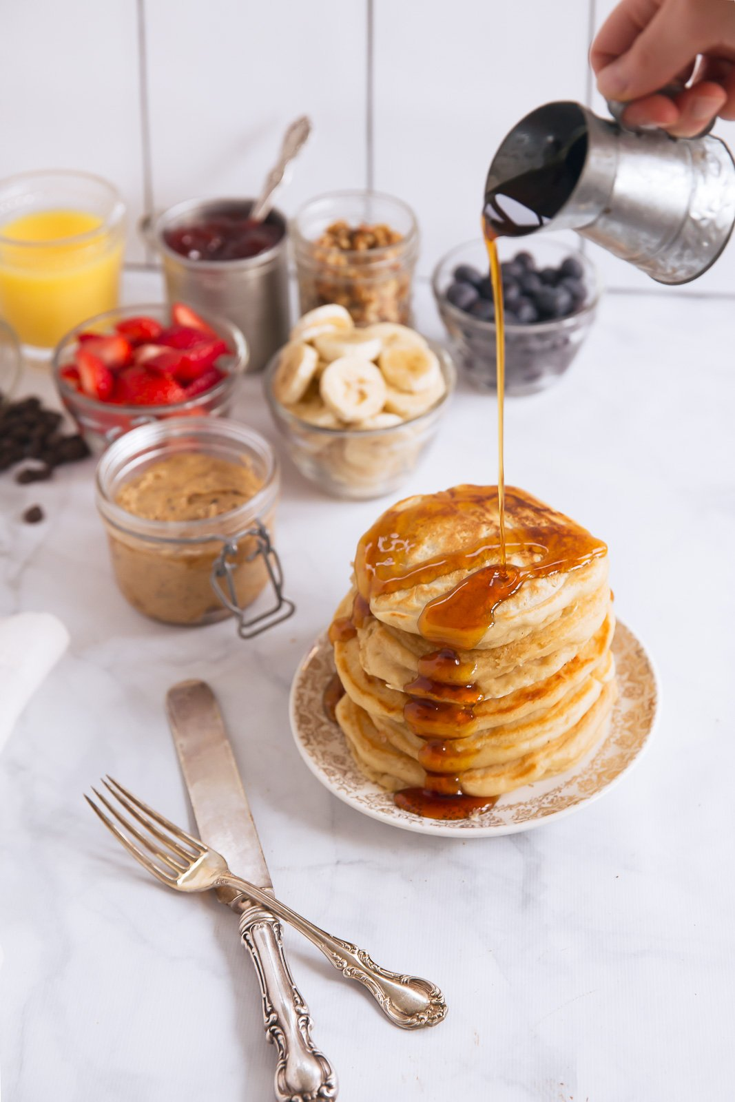 How to Make a Healthy Pancake Breakfast Bar | ambitiouskitchen.com