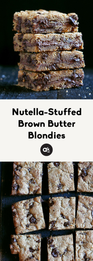 collage of brown butter blondies