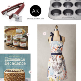 Holiday Gift Guide: For the Baker! Inexpensive gifts for all bakers.
