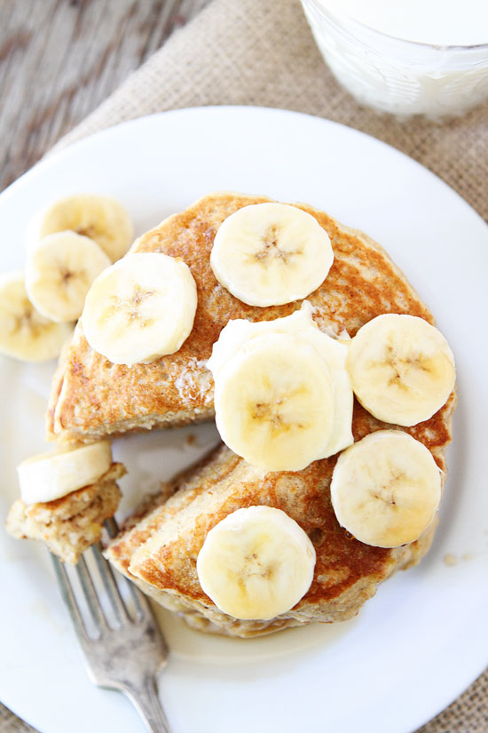 Banana Pancakes from Two Peas and Their Pod
