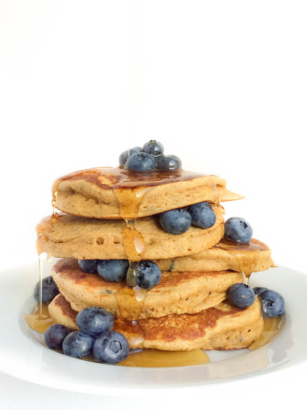 Blueberry Almond Butter Pancakes from The Lemon Bowl