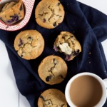 The Best Healthy Blueberry Oatmeal Muffins (gluten free!)