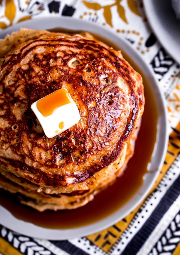 Lemon Chia Whole Wheat Pancakes from Blogging Over Thyme