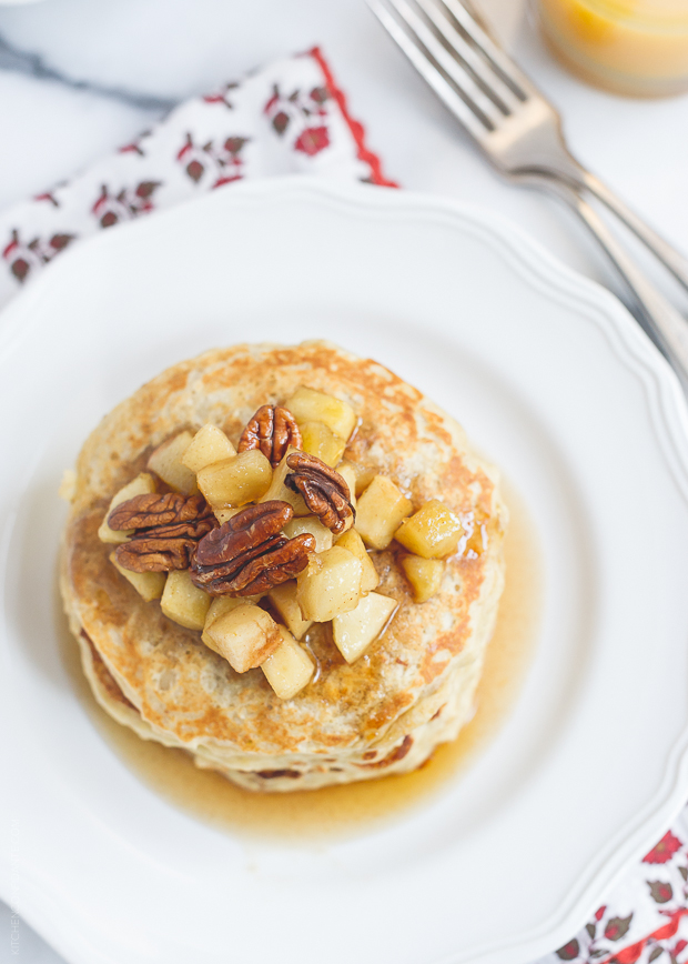 Oatmeal Pancakes   www.kitchenconfidante.com