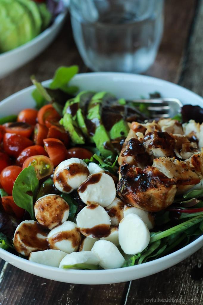 15 Minute Avocado Caprese Chicken Salad from Joyful Healthy Eats