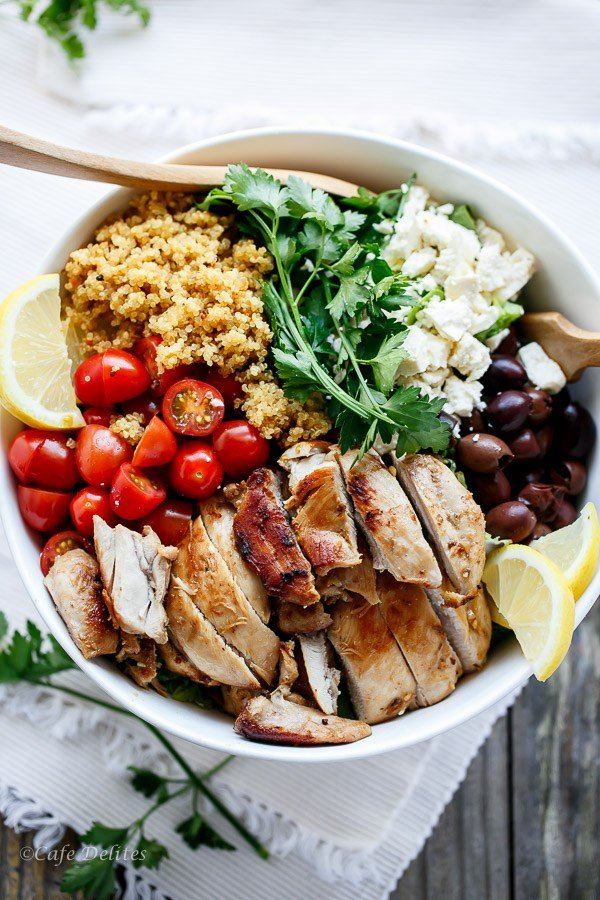 Balsamic Chicken Salad with Lemon Quinoa from Cafe Delites
