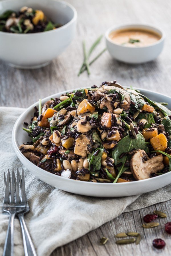 Butternut Squash Black Rice Bean Salad from Eat Good 4 Life