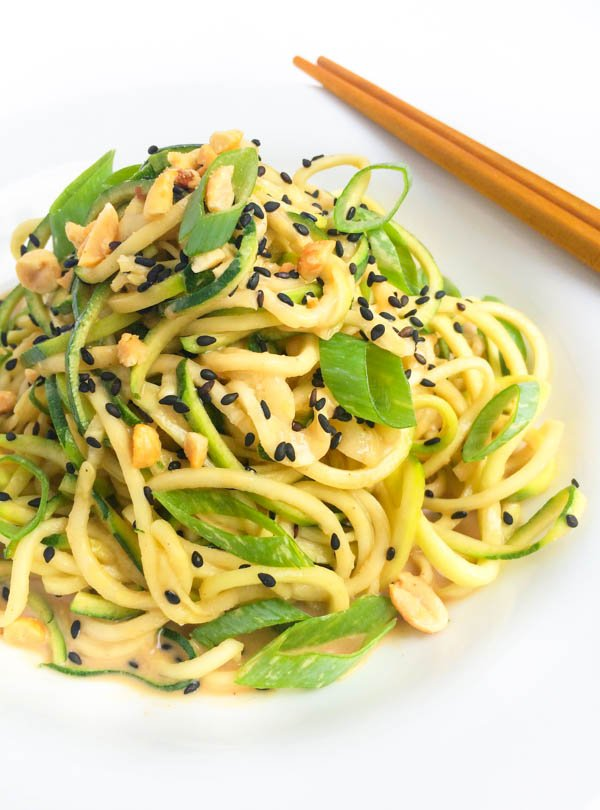 Cold Sesame Peanut Zoodles Recipe from The Lemon Bowl