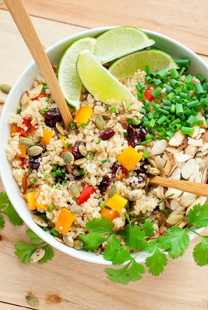 Cranberry Cilantro Quinoa Salad from Peas and Crayons