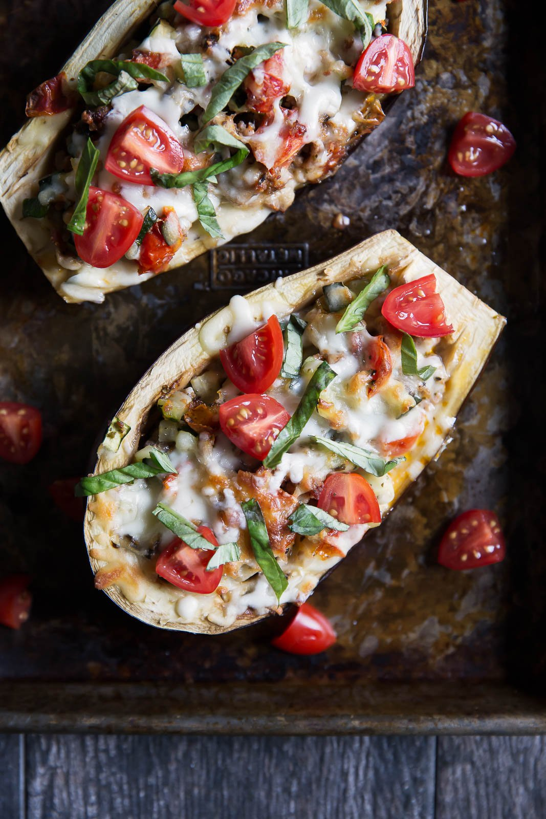 stuffed eggplant boats