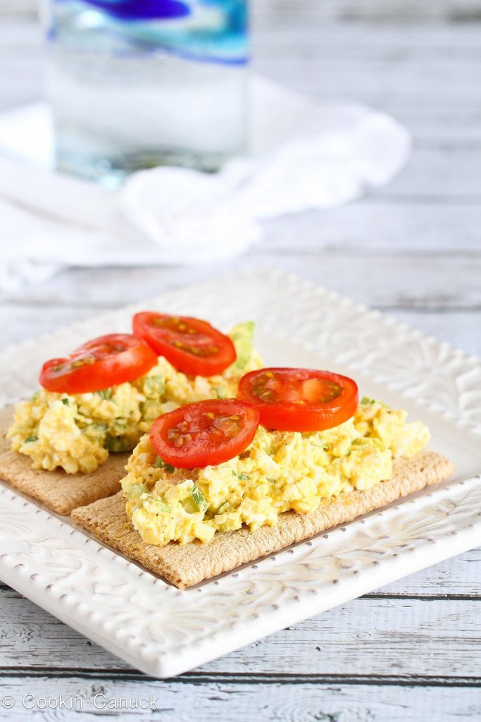 Light Curry Egg Salad with Greek Yogurt from Cookin' Canuck