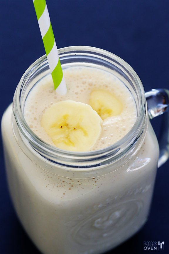 Peanut Butter Banana Smoothie from Gimme Some Oven
