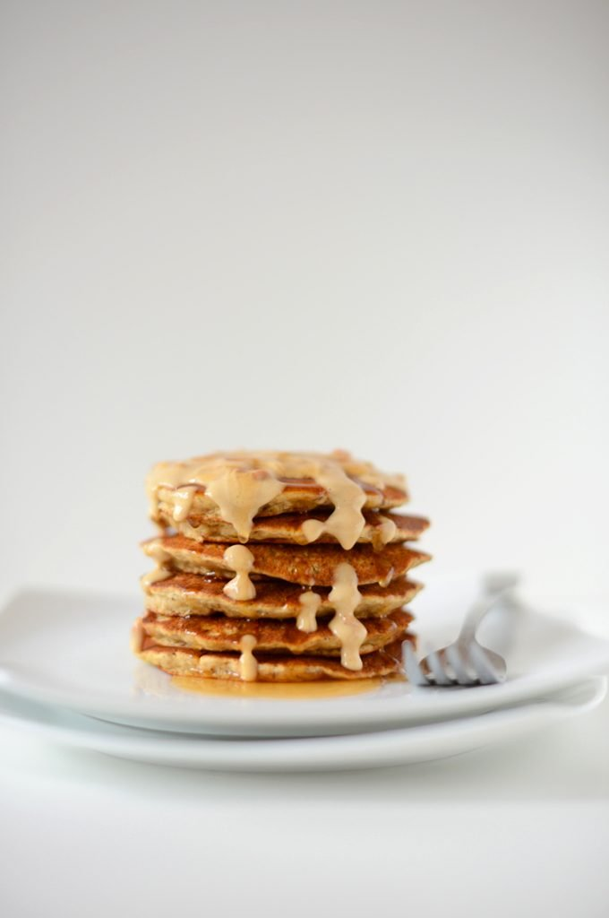 Peanut Butter Flaxseed Pancakes from Minimalist Baker