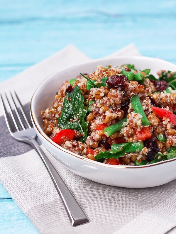 Quinoa and Wheat Berry Salad from Rachel Cooks