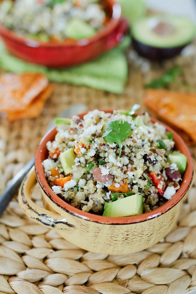 Southwestern Quinoa Salad from Eating Bird Food