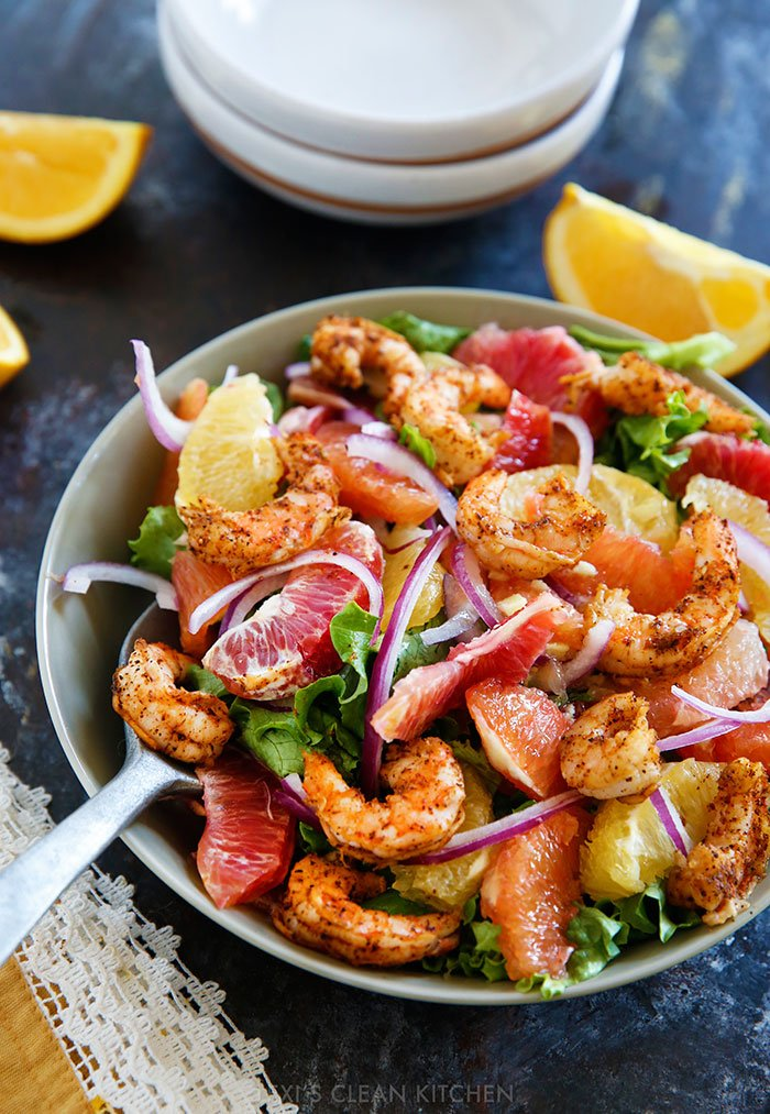 Spicy Shrimp and Citrus Salad from Lexi's Clean Kitchen